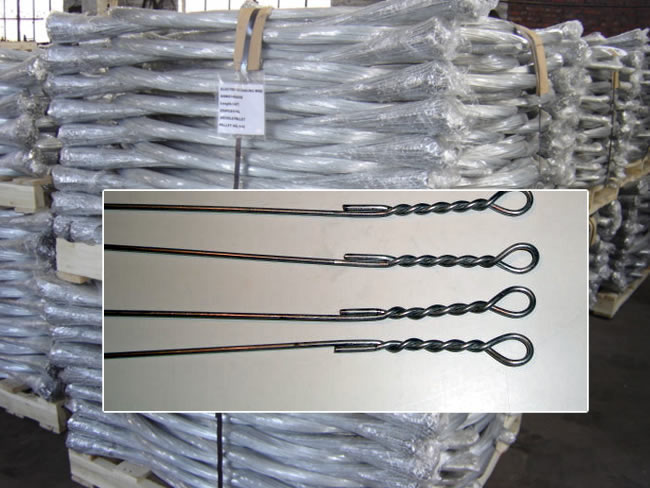 Bale Wire Ties : Galvanized iron and black annealed single loop baling wire