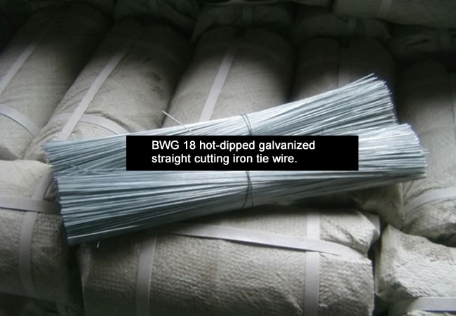 Straightened Cut Tie Wire Annealed And Galvanised Cut To Size
