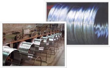 Galvanised iron wire coils